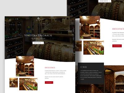 Trigracie.cz wordpress design website wordpress shop freelancer web designer ui design web  design wineshop wine