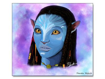 Avatar Vector pandora avatarmovie avatar vector design illustration tharaka mahesh
