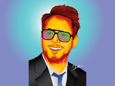 Ironman - Robert Downey Jr design marvel comics paintings marvelcomics robertdowneyjr tonystark marvel studios marvel ironman vector illustration tharaka mahesh