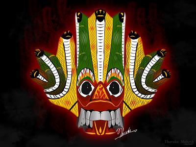 Sri Lanka Traditional Mask design vector masks sri lanka traditional mask sri lanka traditional mask sri lanka mask illustration tharaka mahesh