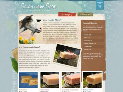 Sarah Jane Soap webdesign web design