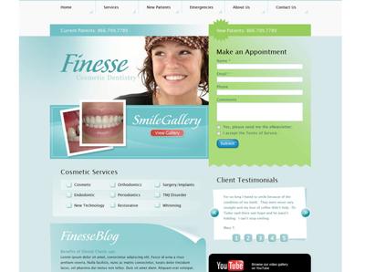 Dental Design Concept webdesign web design