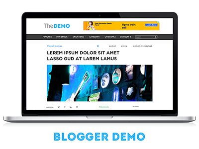 The Minimalist Blog Template eyuva ux ui high cta high ctr adsense friendly minimalist blog