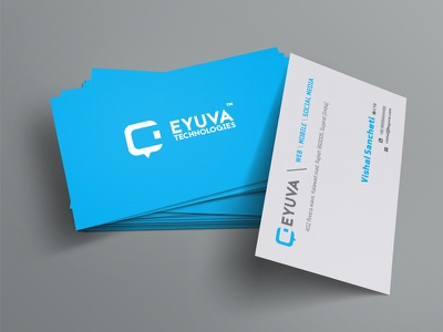 EYUVA Technologies Business Card Design simple card minimalistic design business card