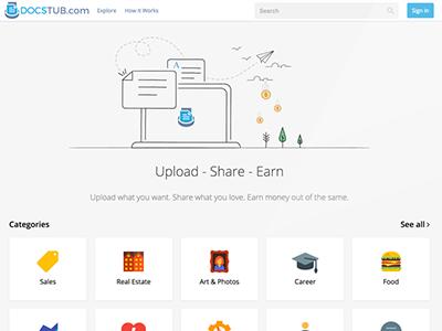 New Home Page Design of DocsTub pdf docstub homepage