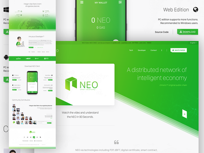 NEO Redesign web ui technological dynamic modern ecological redesign gas ans antshare cryptocurrency neo