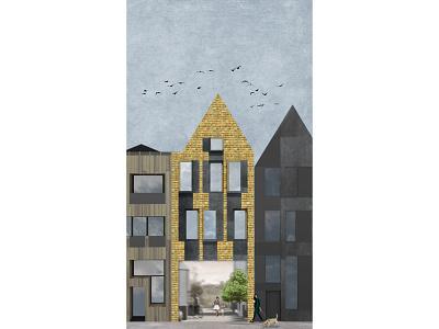 the tenement house ilustracion visual design architecture design oldtown building tenement house architecture design