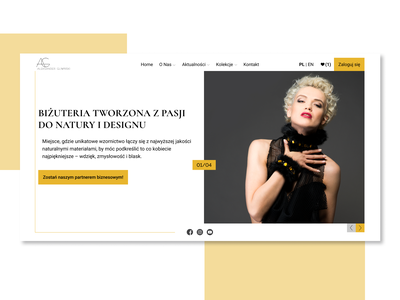 Aleksander Gliwinski Jewellery jewelry jewellery page ux web ui design