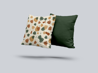 monstera shape pattern pillows pen notebook bag floral design floral monstera mockups mockup patterns pattern