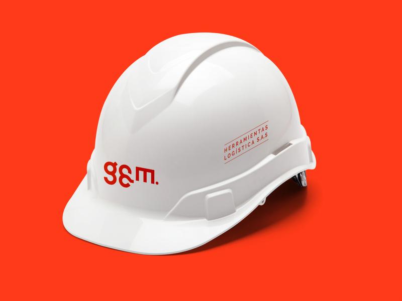 G&M letters icon logo key illustrator branding design art