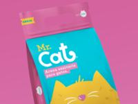 Mr. Cat / Cat litter yellow photoshop cat litter cat package medellín illustration colombia belleza branding logo icon art