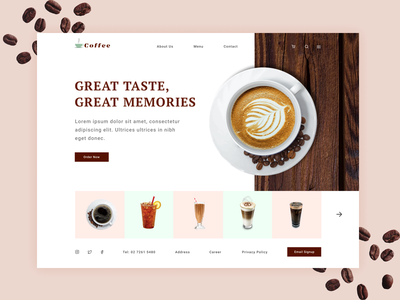 Cafe Webdesign design coffee cafe restaurant wed design