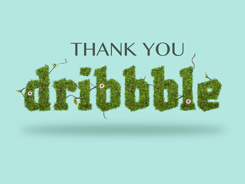 Thank you Dribbble thanks dribbble spring grass thanks first