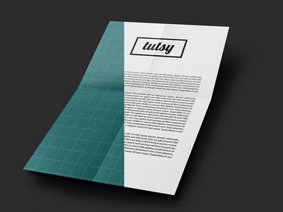 Free A4 folded paper mockup free mockup paper