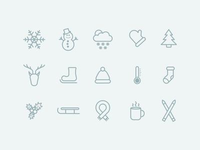 Free Winter Icon Set set icon winter free