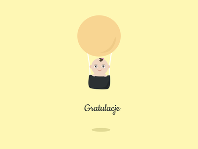Congratulations Card card congratulations baby newborn illustration