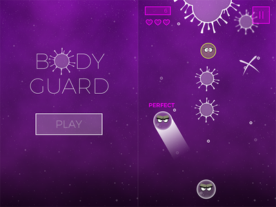 Body Guard Game Demo global game jam transmission adventure game mobile game casual game game ui body guard game