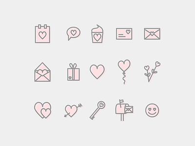 Valentines Icon Set set free hearts heart icon valentines valentine day valentine