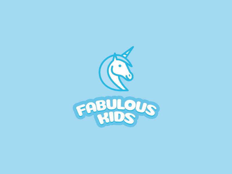 Fabulous Kids fabulous playground unicorn logo kids