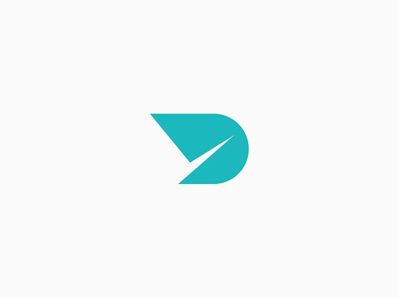 Design Cut letter d design logo