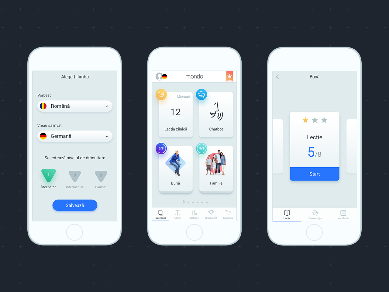Mondo Sky UI clean mobile ui interface uidesign ui