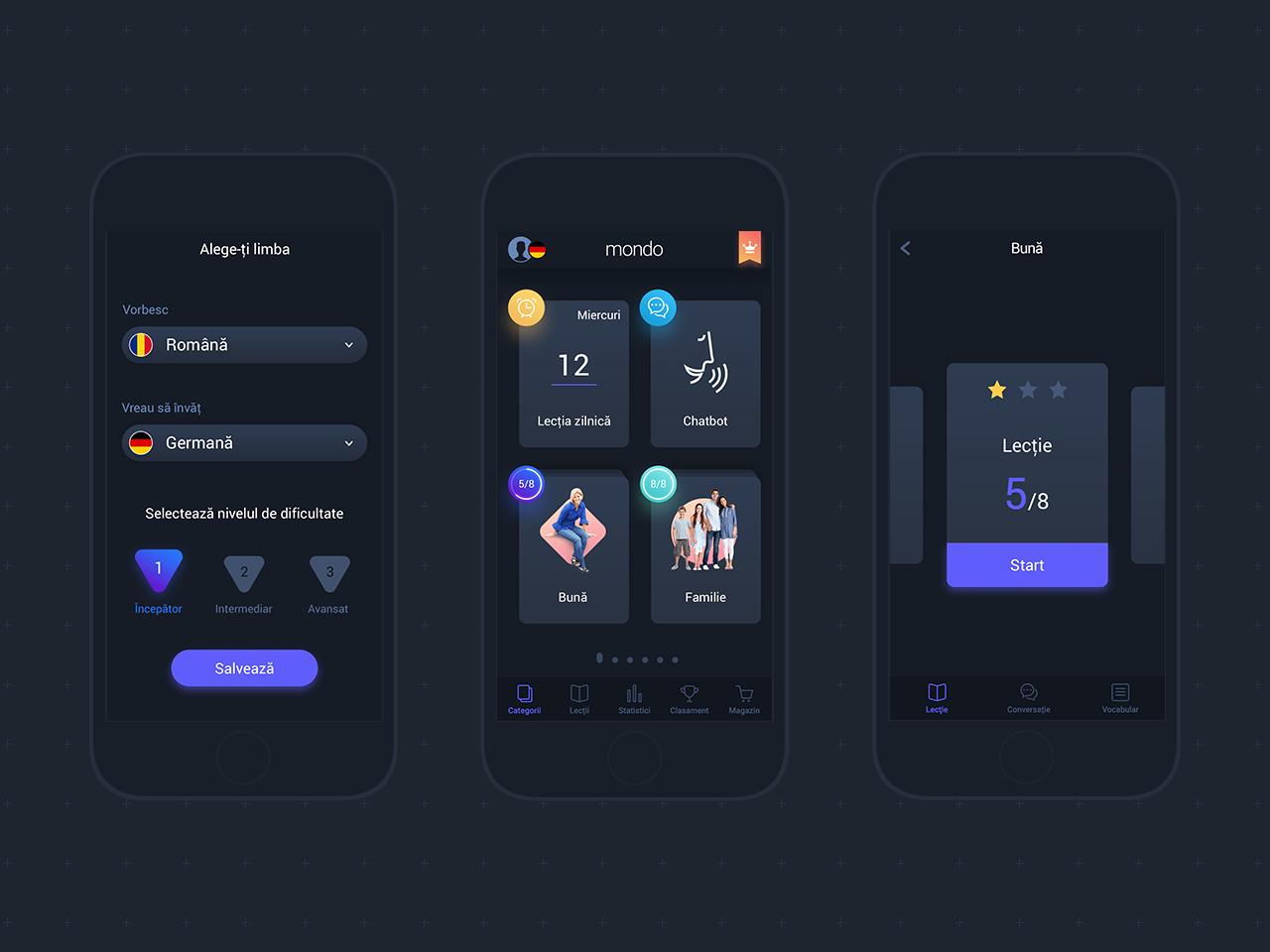 Mondo Night UI userinterface night darkmode interfacedesign mobile interior uidesign ui