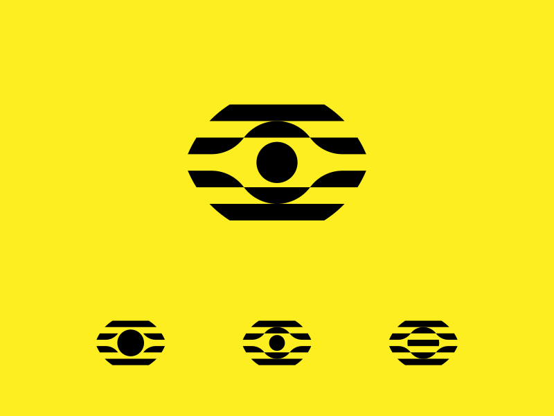 Eye Logo stripes logodesign vision glitch focus eyes logo eye
