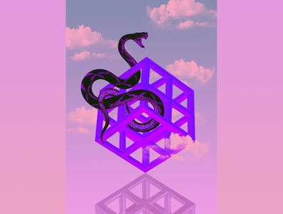 geometric atmosphere geometric digitalart collage art collageart snake design digital collage collage