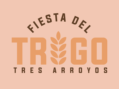 Fiesta del Trigo, Tres Arroyos type minimal illustrator icon typography vector branding logo design