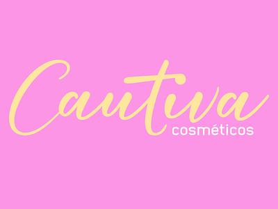 Cautiva Cosméticos Women clean graphic design lettering typography vector type minimal logo icon illustrator design branding