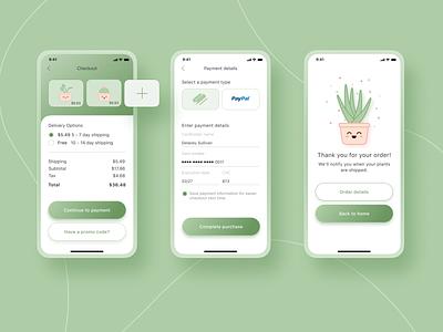 Daily Ui 002 app ecommerce plants checkout dailyui