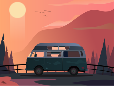 Long Way longway way boos art vector illustration adobe illustrator dribbble