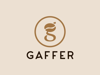 Gaffer-cafe Logo coffee cafe identity logo branding