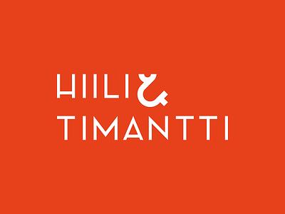 Hiili & Timantti Logo ampersand design logo identity branding