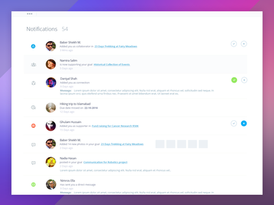 Notifications Area - Apeiron Project - Version II