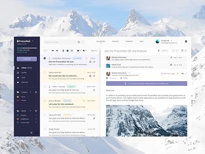 ProtonMail WebMail Dashboard - UI/UX/iOS ux ui email mailbox mac ipad ios interface device dashboard app