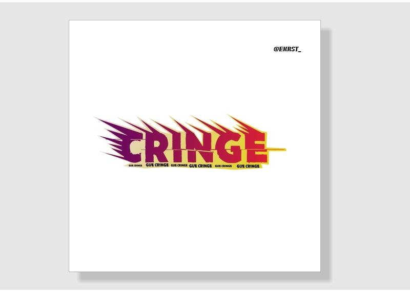 STIKER CRINGE label labeldesign brand design illustration ekrst design elegant typography icon stars stiker