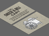 Cheese & Deli Cart Business Cards
