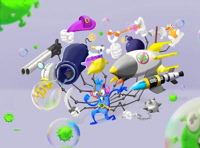 DAM VS COVID animation design illustration network cartoon tv series digital painting digitalart character design
