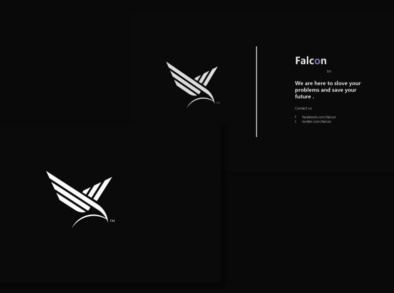 Falcon branding logodesign illustrator flat minimal icon vector typography illustration design