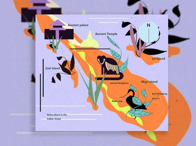 Some Where In The Idian Ocean flat logo art illustrator vector minimal branding typography illustration design