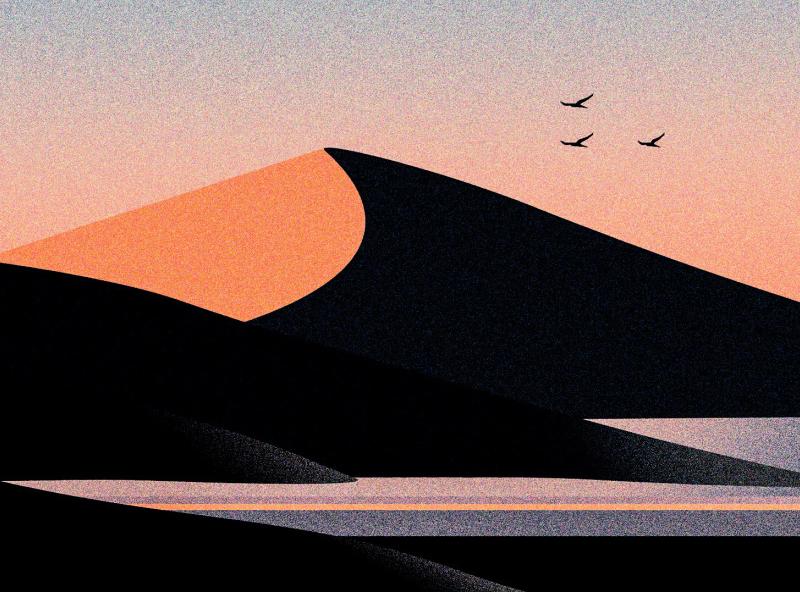 Natural View artist artwork art ux flat ui vector typography illustration design