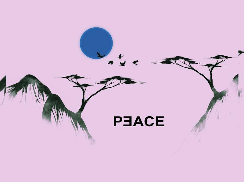PEACE creative minimal branding vector typography flat art logo logodesign illustrator illustration design