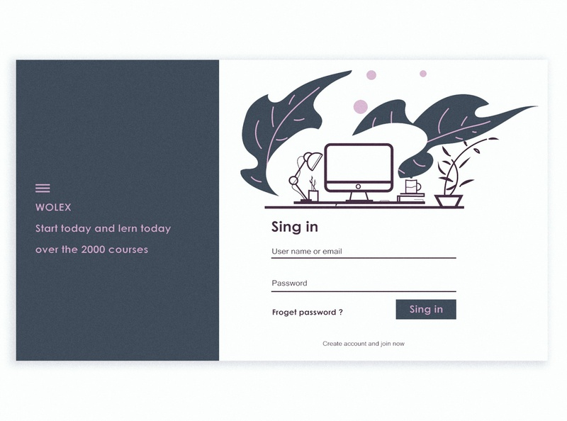 Sing in page redesign webdesign creative artwork ux ui illustrator vector typography minimal illustration branding