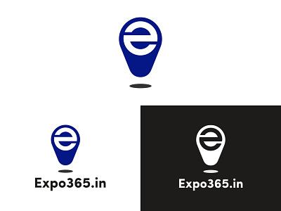 Expo365 Logo Design location pin pin e letter logo marketplace business event e letter e b2b solution b2b design app logo design logo branding