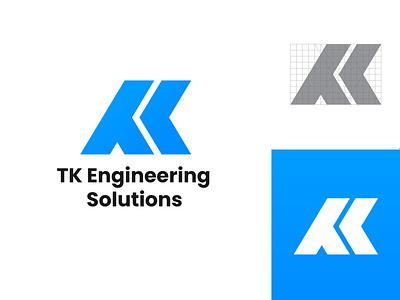 TK Engineering Logo Design typography brandmark identity logo mark personal mark tk monogram monogram logo tk logo tk letter tk branding vector logo design logo