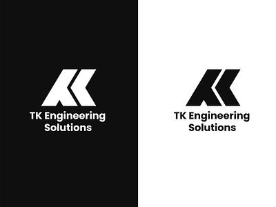 TK Engineering Logo Design typography logomark personal mark branding k letter monogram letter mark t letter tk letter tk monogram logo monogram brandmark vector logo logo design