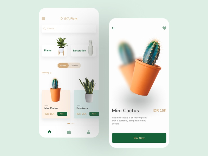Plant Shop App Design app design plant shop ui  ux clean ui design minimalist design ecommerce app mobile design mobile ui mobile app mobile app design