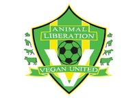Animal liberation - vegan united - soccer team logo