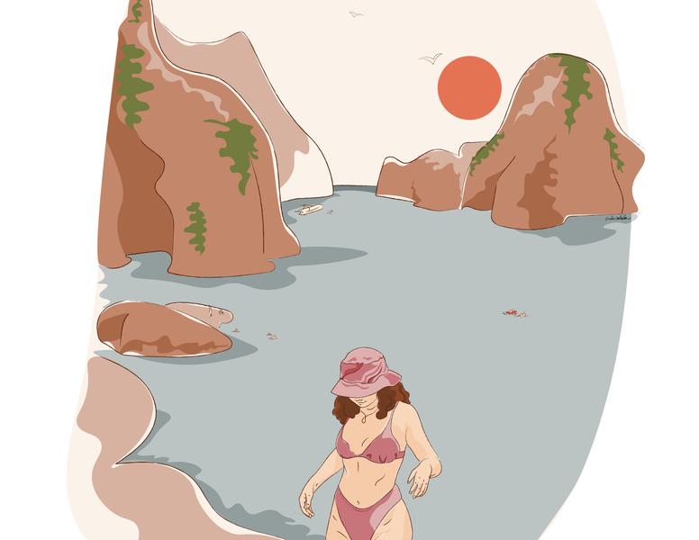 Tonnara di Scopello Dreaming home sicily morning scopello scopello sea beach illustration digital illustration